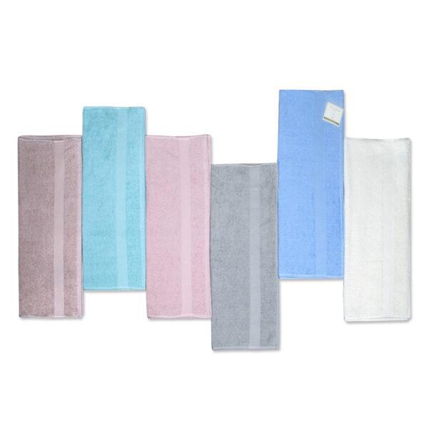 Asciugamani E/O Ospiti Set da 6 Pezzi Colorissima Tinta Unita Puro Cotone Maestri Cotonieri Home -0