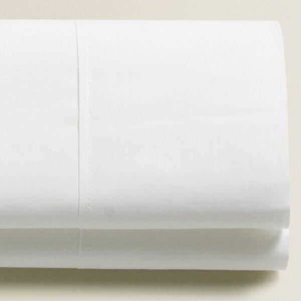 Lenzuolo Sopra Matrimoniale Percalle 80 fili cm² Bianco Maestri Cotonieri Home-0