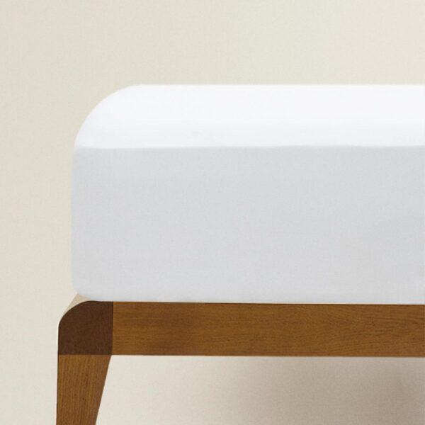Lenzuolo Sotto Con Angoli 1 Posto E Mezzo Percalle 80 fili cm² Bianco Maestri Cotonieri Home-0