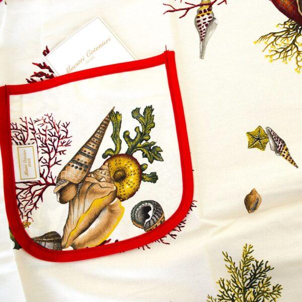 Grembiule Da Cucina Con Tasca Puro Cotone Art. Corallo Maestri Cotonieri Home-12441
