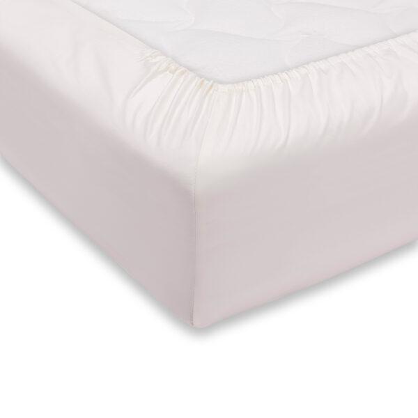 Lenzuolo Sotto Con Angoli Hotellerie 2 Posti Maxi 100% Cotone Colore Bianco Maestri Cotonieri Home-0