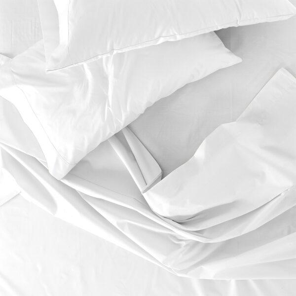 Lenzuolo 1 Posto E Mezzo Sopra 100% Cotone Colore Bianco Maestri Cotonieri Home-4096