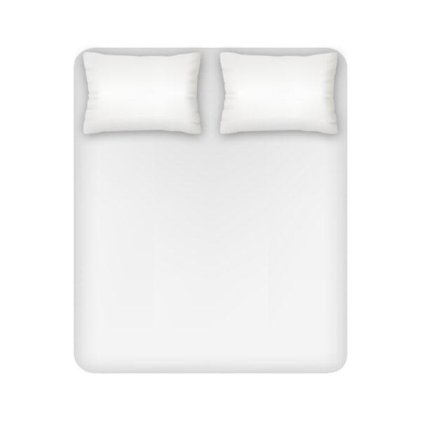 Lenzuolo Sotto Con Angoli Hotellerie 2 Posti Maxi 100% Cotone Colore Bianco Maestri Cotonieri Home-4110