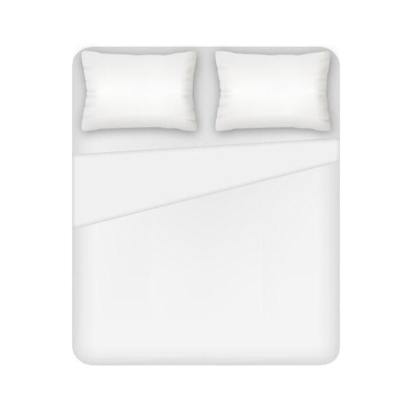 Lenzuolo 2 Posti Sopra 100% Cotone Colore Bianco Maestri Cotonieri Home-0