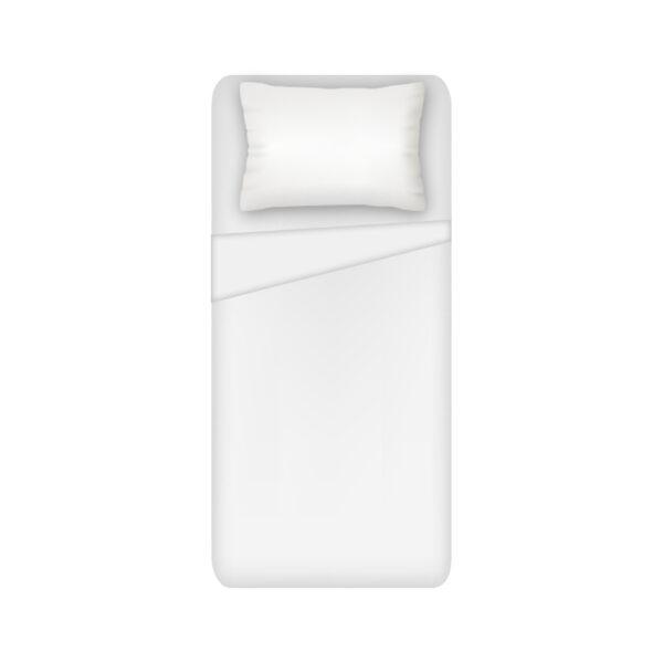 Lenzuolo 1 Posto Sopra Hotellerie 100% Cotone Colore Bianco Maestri Cotonieri Home-0