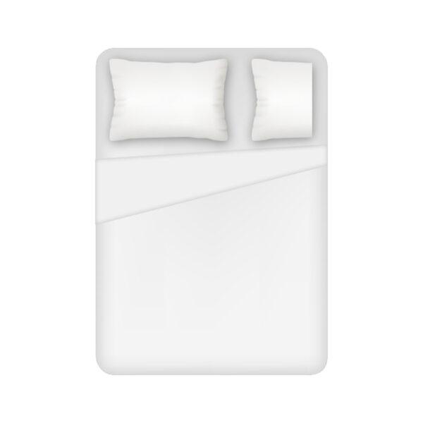 Lenzuolo 1 Posto E Mezzo Sopra 100% Cotone Colore Bianco Maestri Cotonieri Home-0