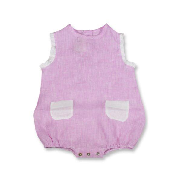 Pagliaccetto Chery How Baby Bicolor 100% Puro Lino Maestri Cotonieri Home-16401
