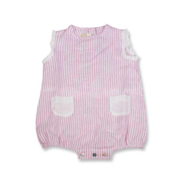 Pagliaccetto Chery How Baby Bicolor 100% Puro Lino Maestri Cotonieri Home-16402