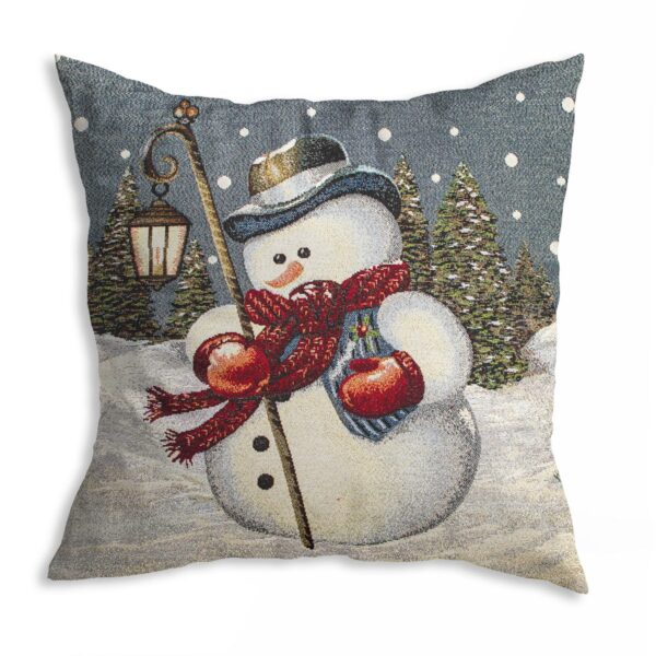 Cuscino Arredo Natale Pupazzo Di Neve Maestri Cotonieri Home-0
