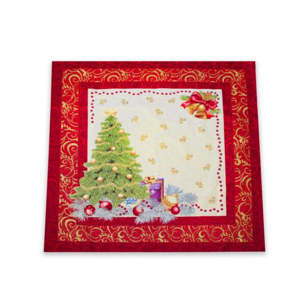 Centrotavola di Natale Abete 100 x 100 CM Maestri Cotonieri Home-18475