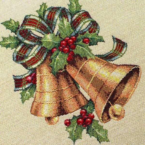 Centrotavola di Natale Agrifoglio 100 x 100 CM Maestri Cotonieri Home-18477