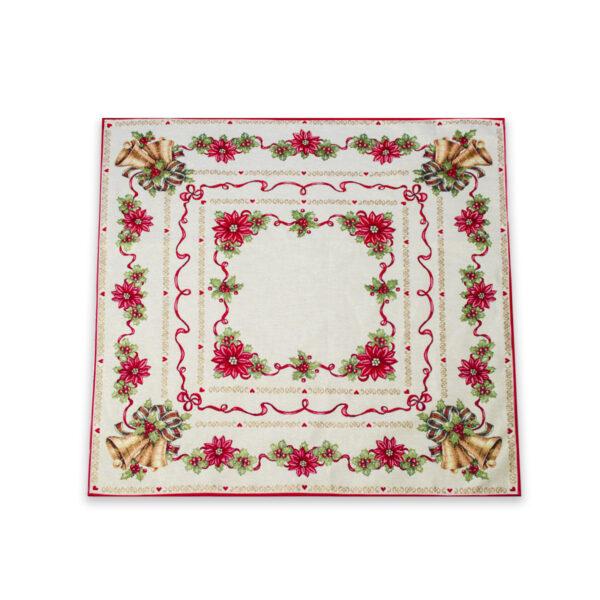 Centrotavola di Natale Agrifoglio 100 x 100 CM Maestri Cotonieri Home-18478