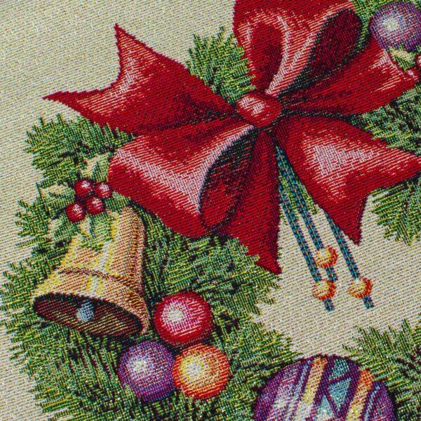 Centrotavola di Natale Fiocco 100 x 100 CM Maestri Cotonieri Home-18463