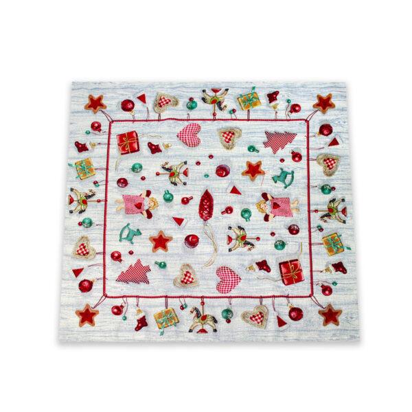 Centrotavola di Natale Magici Doni 100 x 100 CM Maestri Cotonieri Home-18454