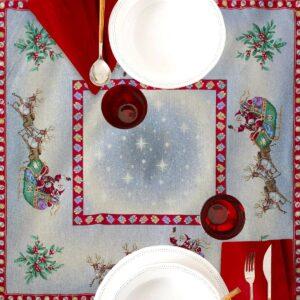 Centrotavola di Natale Navidad 100 x 100 CM Maestri Cotonieri Home-0